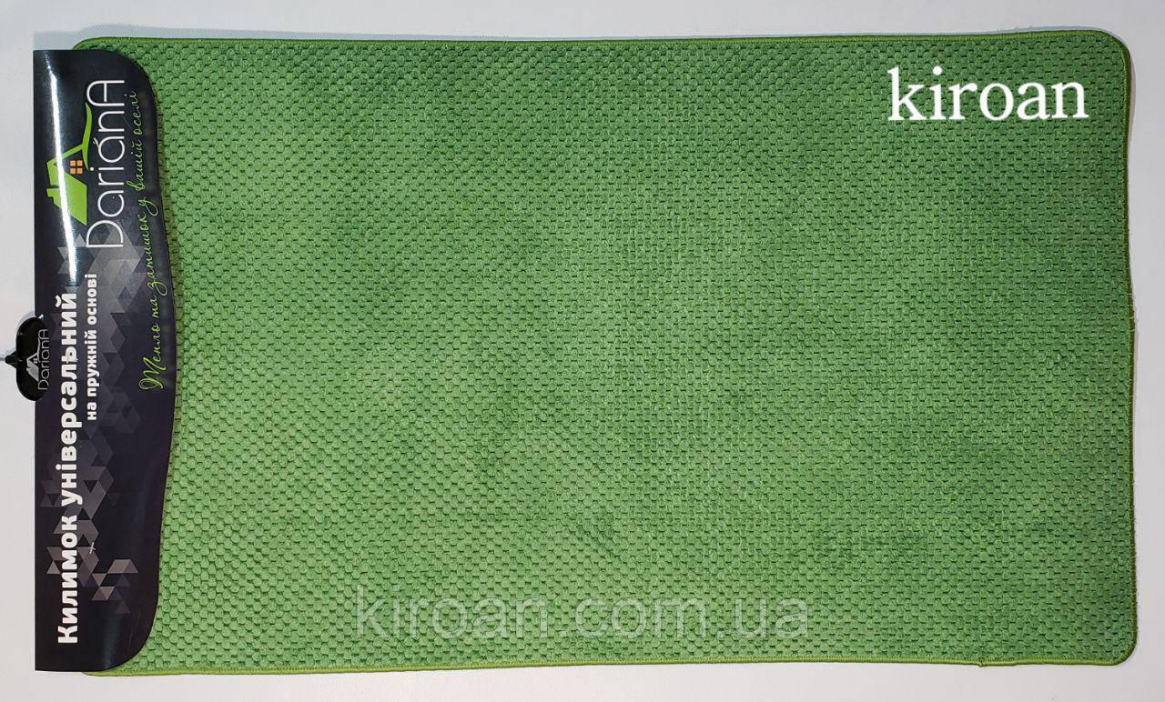 """Универсальный коврик, полиестер на вспененной резине """"Ананас"""" 45х75см (цвет-зелёный)"""