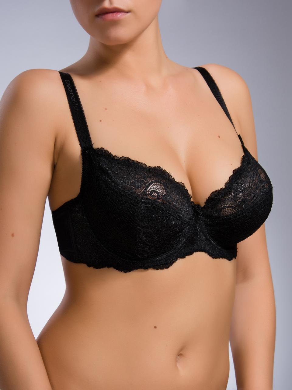 Бюстгальтер Diorella 35962D, цвет Черный, размер 85D
