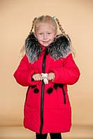 """Зимняя куртка пальто для девочек """"Эрта"""" от 2 до 6 лет"""