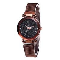 Женские наручные часы Starry Sky Watch на магнитной застёжке Brown