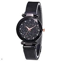 Женские наручные часы Starry Sky Watch на магнитной застёжке Black