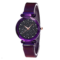 Женские наручные часы Starry Sky Watch на магнитной застёжке Purple