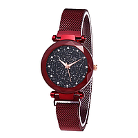 Женские наручные часы Starry Sky Watch на магнитной застёжке Red