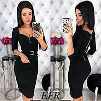 Платье женское приталенное - Черный, фото 1