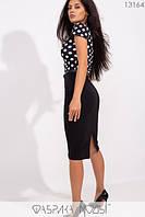 Стильное платье-футляр с поясом по отрезной талии и юбкой-карандаш S, M, L размер