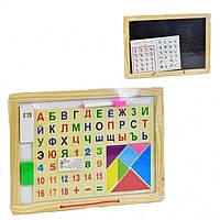 Двустороння деревянная досточка азбука Fun Toys 36023  стандарт