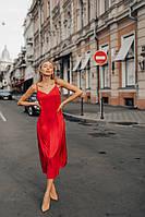 Платье комбинация Алекса шелковое миди разные цвета Smdi3688