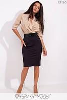 Элегантное молодёжное платье-футляр в деловом стиле S, M, L размер