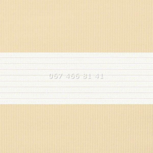 Тканевые ролеты Besta Uni с П-образными направляющими День-Ночь BH Cream 1202
