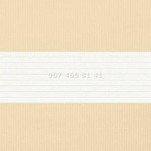 Тканевые ролеты Besta Uni с П-образными направляющими День-Ночь BH Cream 1202, фото 2