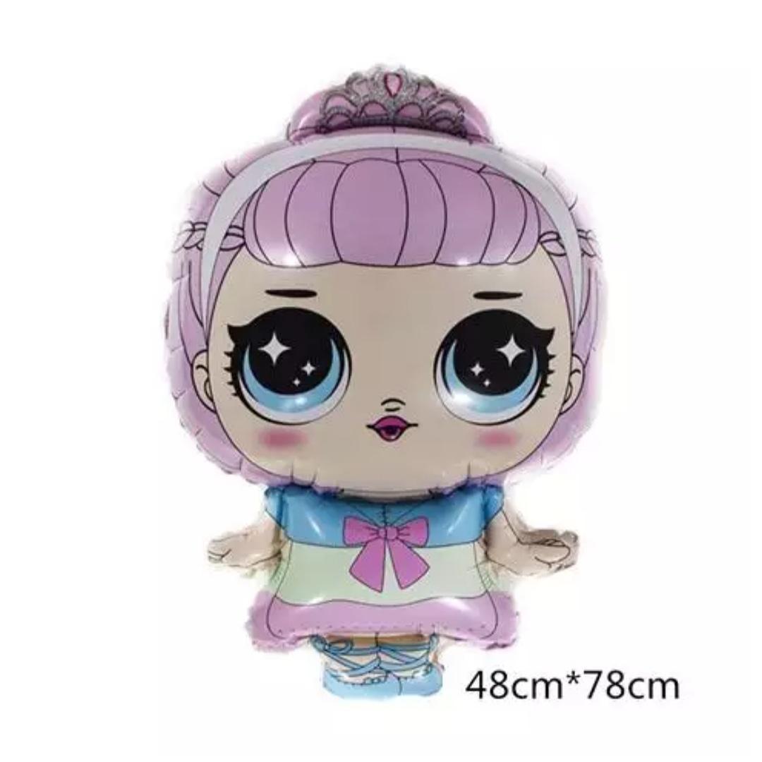 Куля фольгований лялька Лол з короною 78 × 48 см