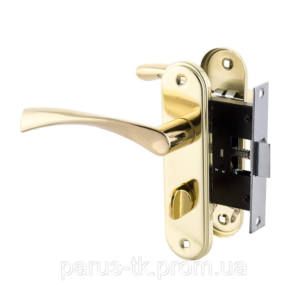 Серия дверных ручек на планке 50мм под WC FZB BK-71157