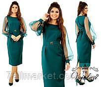 """Платье женское нарядное с напылением, размеры 42-46 (3цв) """"VOJELAVI"""" недорого от прямого поставщика"""