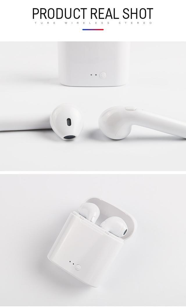 Беспроводные Bluetooth наушники iONCT i7s со встроенным микрофоном Белые