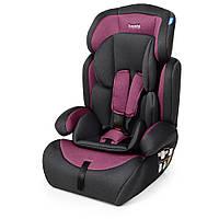Автокресло детское, Bambi M 3546 Pink Gray, автокресло и бустер 2 в 1, вес ребенка 9-36 кг (группа 1-2-3)