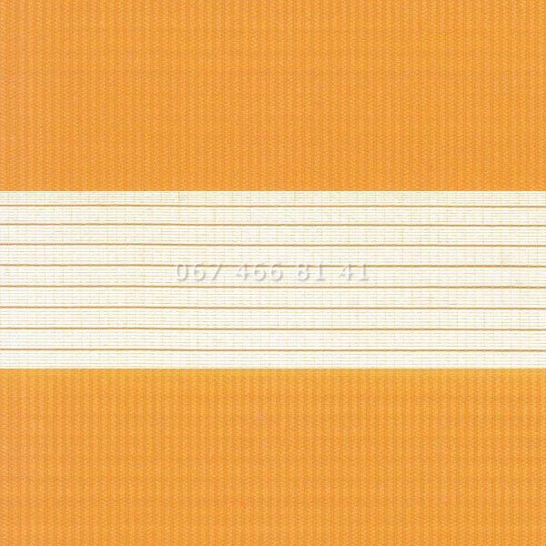 Тканевые ролеты Besta Uni с П-образными направляющими День-Ночь BH Orange 1207