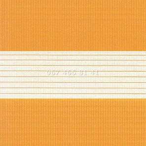 Тканевые ролеты Besta Uni с П-образными направляющими День-Ночь BH Orange 1207, фото 2