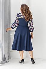 Платье, №137, синее, 48-58р., фото 2
