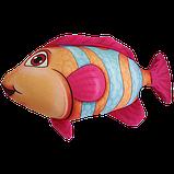 Антистресова іграшка Рибка Клоун 20*23 см, полистерольні кульки, фото 4