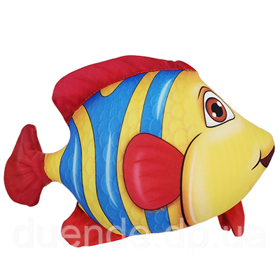 Антистресова іграшка Рибка Клоун 20*23 см, полистерольні кульки
