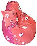 Крісло мішок пуф з вишивкою, Велюр розмір L 95*115см, фото 4
