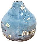 Крісло мішок пуф з вишивкою, Велюр розмір L 95*115см, фото 8
