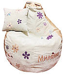 Кресло мешок пуф Ромашка, Велюр размер XL 110*130см, фото 7