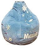 Крісло мішок пуф Ромашка, Велюр розмір XL 110*113см, фото 3