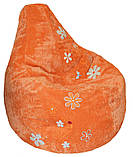 Крісло мішок пуф Ромашка, Велюр розмір XL 110*113см, фото 8