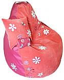 Крісло мішок пуф Ромашка, Велюр розмір XL 110*113см, фото 9