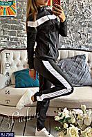 Женский спортивный костюм черный графит красный 42 44 46 48