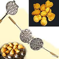 Форма для выпечки орешков и печенья орешница «Лесное Ассорти»(большая)