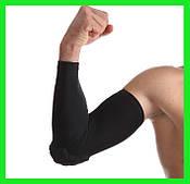 Налокотник защитный для баскетбола, тенниса, гандбола, волейбола, 1шт. (лайкра, р-р S, M, L, XL, черный)