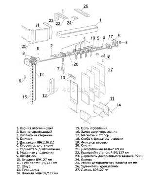 Жалюзи вертикальные 89 мм Металлик Ампир сапфировые, фото 2
