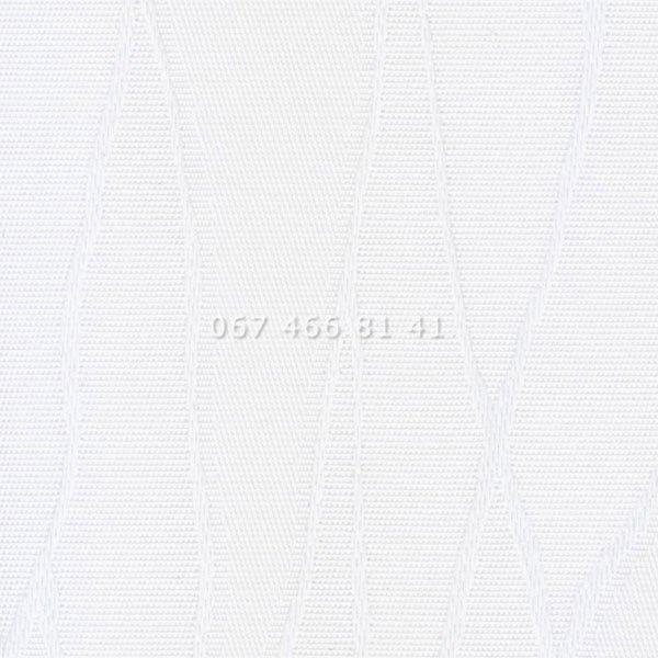 Жалюзи вертикальные 89 мм Жаккард BlackOut белые
