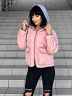 """Куртка женская демисезонная с капюшоном, размеры S-L (3цв) """"LILIYA"""" купить недорого от прямого поставщика"""