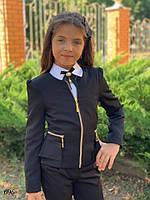 Пиджак школьный для девочки мадонна 122,128,134