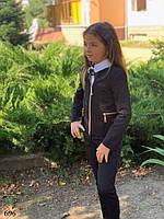 Пиджак школьный подросток для девочки мадонна 140,146,152