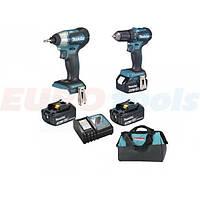Набор аккумуляторного инструмента Makita DLX2220 (DTD155,DDF483,DC18RC,BL1830Bx2,сумка)