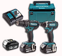 Набор аккумуляторного инструмента DLX2127TJ1 (DDF482,DTD152,DC18RC,BL1850Bx3,Makpac)