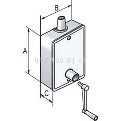 Укладчик для корда редукторный для роллет Alutech SBR/40