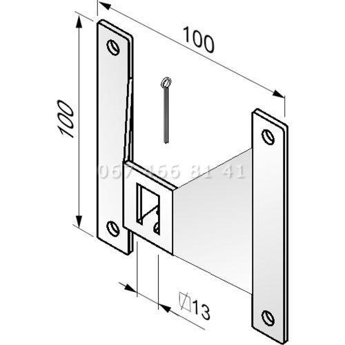 Alutech PLA100 пластина крепления для роллет