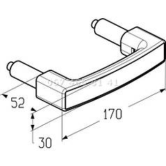 Alutech HGI006 ручка для ворот