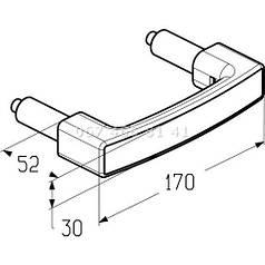 Ручка для ворот Alutech HGI006