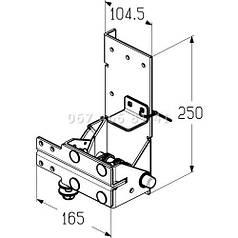 Alutech RBI-40.120D кронштейн нижний для ворот