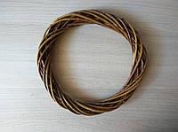 Венок ротанговый коричневый для декора и рукоделия d-25 см, Основа из ротанга для изготовления венка