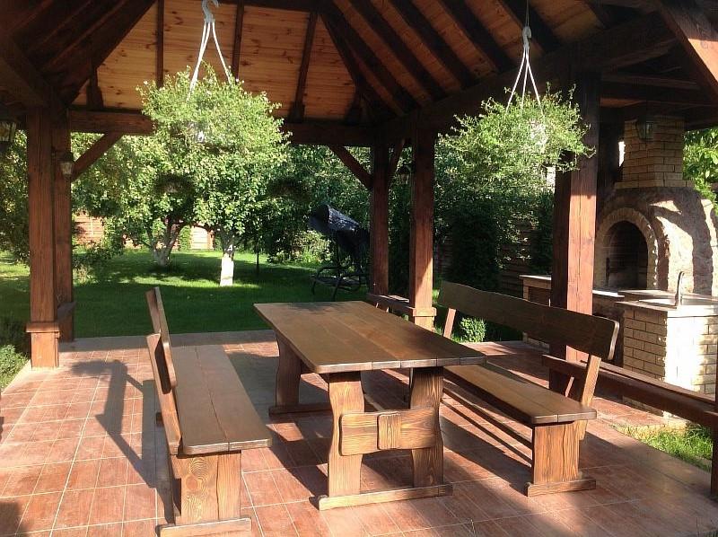 Деревянная мебель для беседок и мангалов в Чернигове от производителя