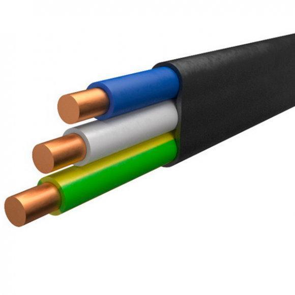 3х2.5 ВВГнг (ПВ-3) Кабель мідний плоский багатожильний [ВВГнг (ПВ-3)-0,66 3х2,5]