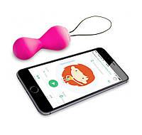 Вагинальные шарики, тренажер вагинальных мышц Gballs 2 App Gvibe (Англия), розовый