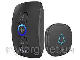 Smart дверной звонок Kerul M 525 беспроводной 1 ресивер 1 звонок Черный